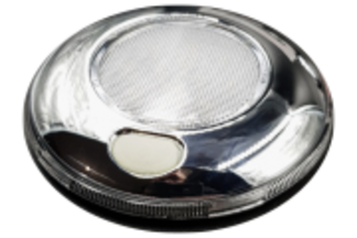 80mm Chrome/White/Silver Interior Light - Switched